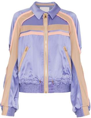 Peter Pilotto Silk Contrast Cady Jacket