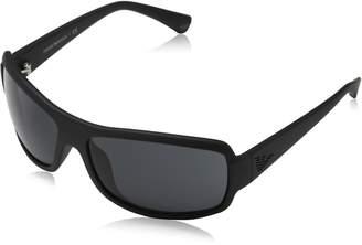 Emporio Armani Men's EA4012-504287-63 Black Rectangle Sunglasses