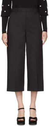 3.1 Phillip Lim Black Wide-Leg Cuffed Trousers