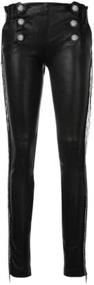 Plein Sud Jeans fringed skinny trousers