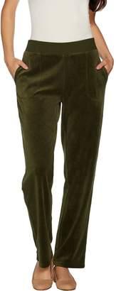 Susan Graver Petite Velour Pull-On Pants