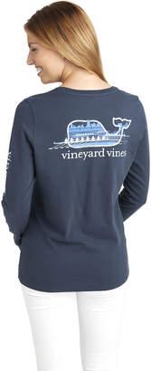 Vineyard Vines Long-Sleeve Crew Whale Pocket Tee