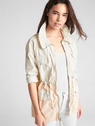 Gap Lightweight Colorblock Field Jacket in Poplin
