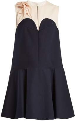 DELPOZO Contrast-yoke cotton dress