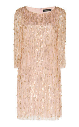 Jenny Packham Hermione Embellished Mini Dress