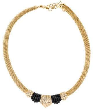 Christian Dior Crystal & Resin Collar Necklace