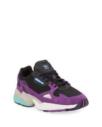 adidas Falcon Lace-Up Leather Running Sneakers