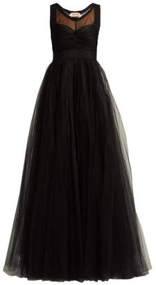 No.21 No. 21 - Tulle And Crepe De Chine Gown - Womens - Black