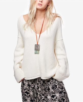 Free People La Brea V-Neck Sweater $108 thestylecure.com