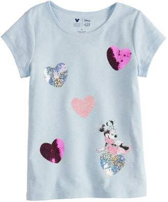 Disney Minnie Mouse Toddler Girl Heart Tee By Jumping Beans