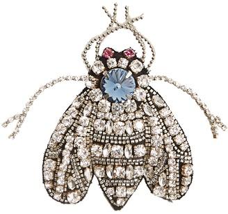 Crystal-fly brooch