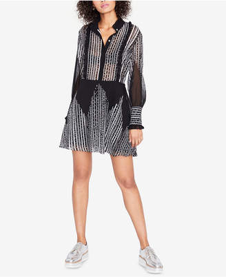 Rachel Roy Printed Ruffled Shirtdress, Created for Macy's