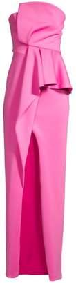 Black Halo Jonas Asymmetrical Draped Gown