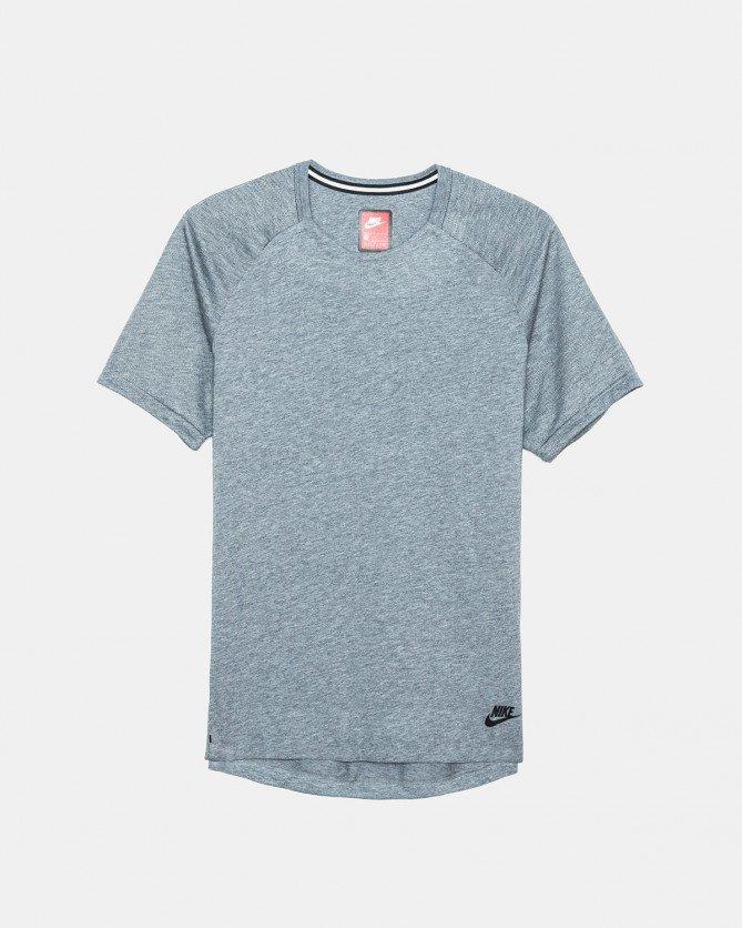 Nike - Sportswear Bonded Short Sleeve Top (Carbon Heather | Black)