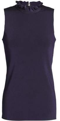 Nina Ricci Ruched Ribbed-Knit Top