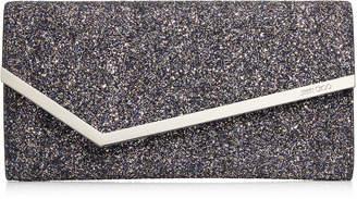 Jimmy Choo ERICA Twilight Glitzy Glitter Fabric Clutch Bag