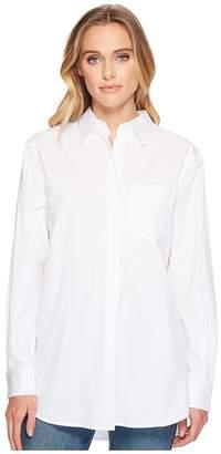Lauren Ralph Lauren Oversized Cotton Poplin Shirt Women's T Shirt