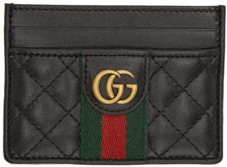 Gucci Black Trapuntata Card Holder