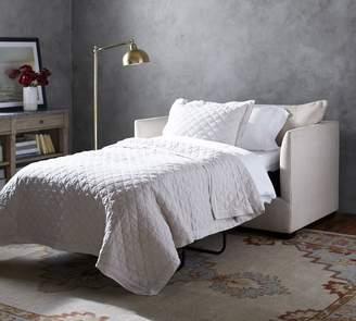 Pottery Barn Luna Upholstered Twin Sleeper Sofa with Memory Foam Mattress