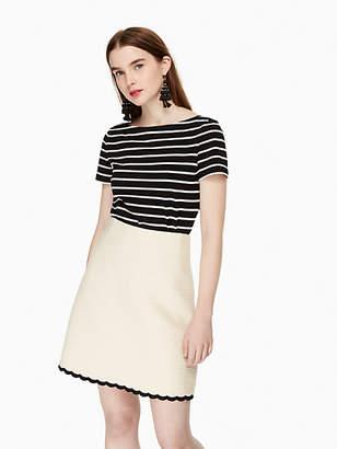 Kate Spade Scallop tweed skirt