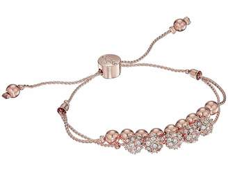 GUESS Double Row Round Bead and Fireball Slider Bracelet