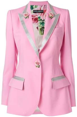Dolce & Gabbana single-breasted rose blazer
