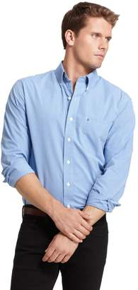 Izod Men's Checked Casual Slim-Fit Button-Down Shirt