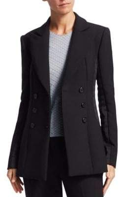 Armani Collezioni Double-Breasted Wool Jacket
