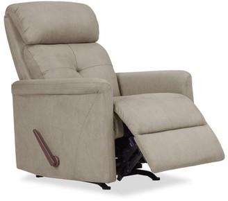 Homesvale Toronto Rocker Recliner Chair in Stone Nubuck