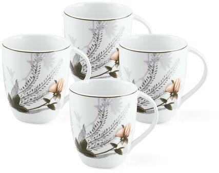 Mikasa Chateau Garden Set of 4 Mugs