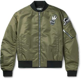 McQ Cave Appliquéd Shell Bomber Jacket