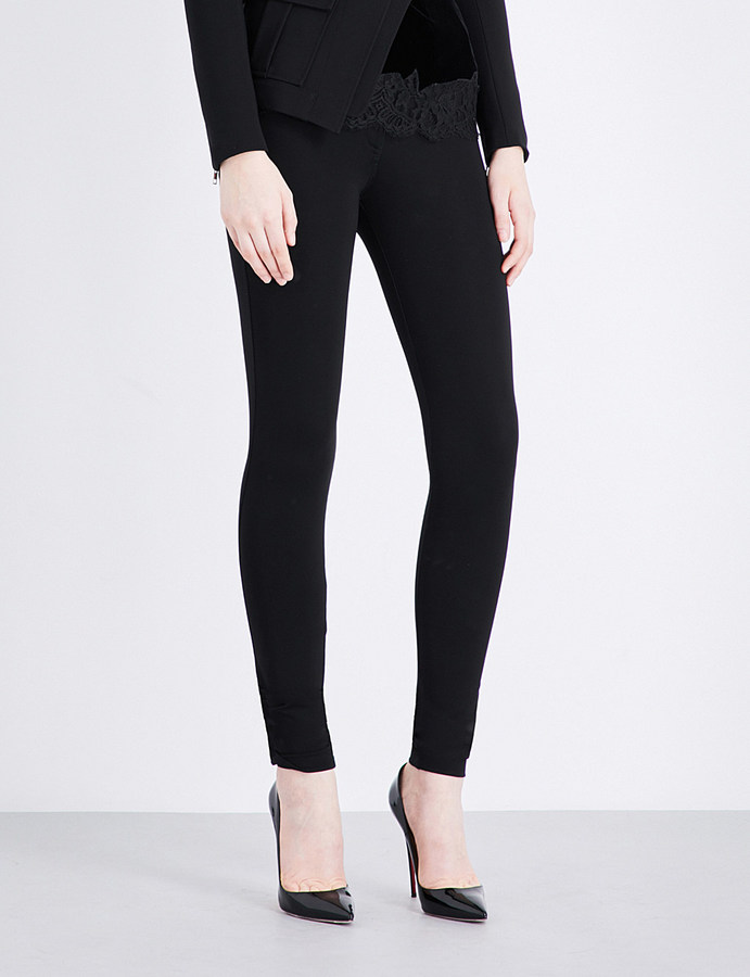 GivenchyGIVENCHY Skinny mid-rise stretch-crepe leggings
