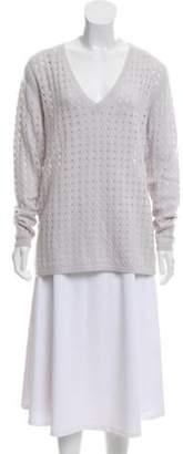 Allude Cashmere V-Neck Sweater w/ Tags purple Cashmere V-Neck Sweater w/ Tags