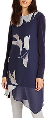 Phase Eight Vinny Floral Tunic, Navy