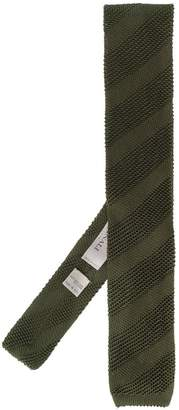 Canali striped knitted scarf