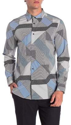 Perry Ellis Print Stretch Slim Fit Shirt