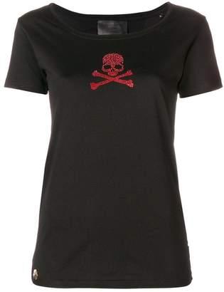 Philipp Plein crystal skull scoop T-shirt