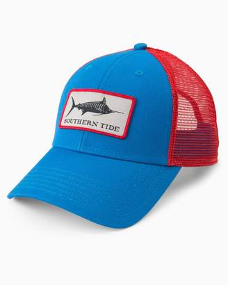 Blue Marlin Southern Tide Fish Series Patch Trucker Hat