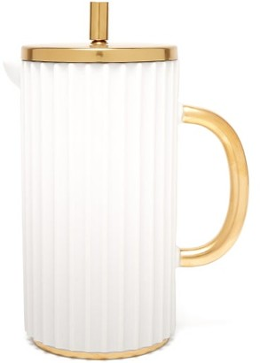 L'OBJET L'Objet Lobjet - Ionic Porcelain French Press - White Gold
