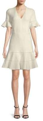 Rebecca Taylor Textured Bell-Sleeve Dress