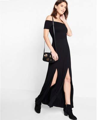 Express Black Off The Shoulder Smocked Maxi Dress $59.90 thestylecure.com