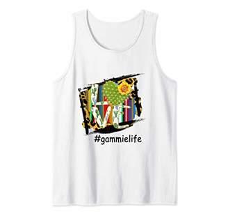 Woman Mom Love Gammie Life Cactus Flower Art Shirt Tank Top