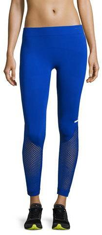 adidas by Stella McCartney The Seamless Mesh Tights, Bold Blue