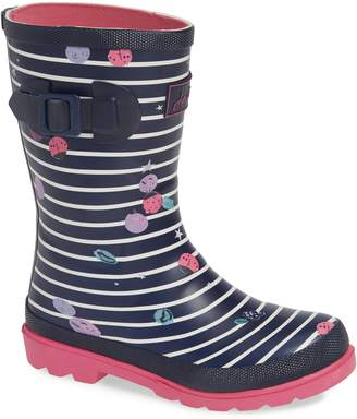 Joules Mid Height Print Welly Waterproof Rain Boot