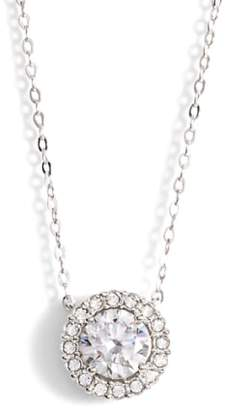 Nadri Halo Pendant Necklace