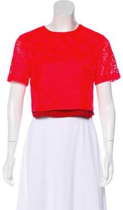 A.L.C. Short Sleeve Lace Top