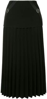 Dion Lee mid length pleated skirt