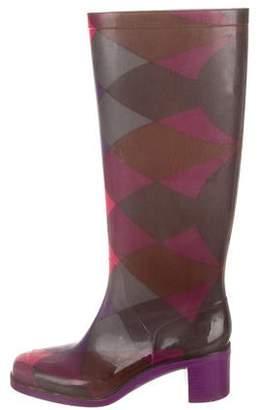 Emilio Pucci Rubber Printed Rain Boots