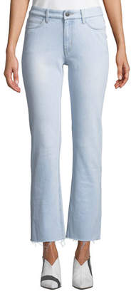 MiH Jeans Daily High-Rise Straight-Leg Frayed Jeans