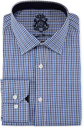 English Laundry Classic-Fit Micro-Gingham Dress Shirt, Blue